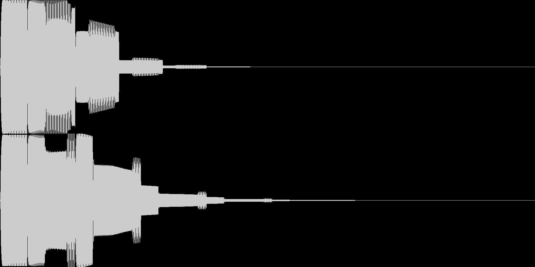 汎用決定ボタン - 5の未再生の波形