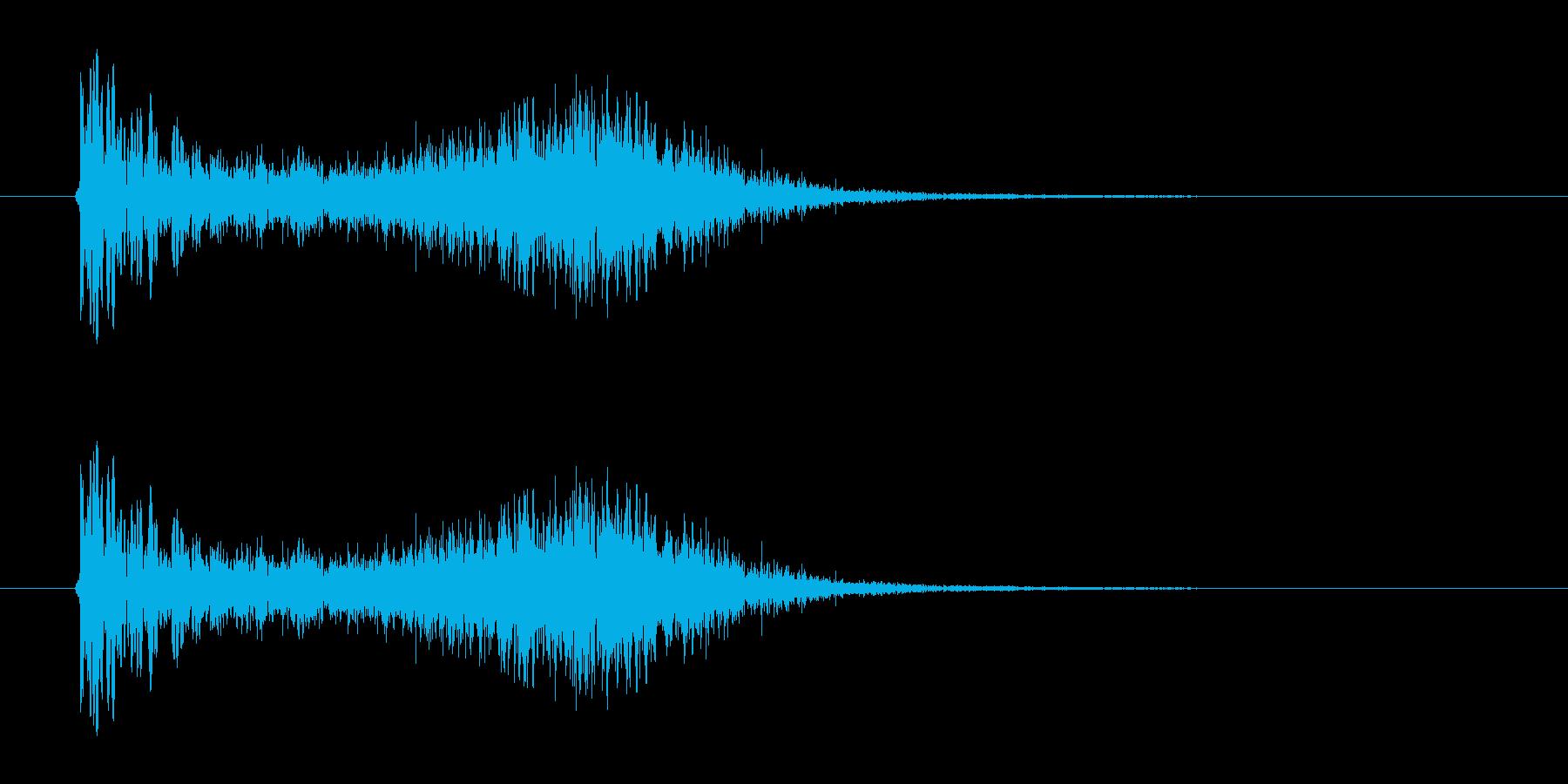 バズーカ砲、ミサイルを打った音の再生済みの波形