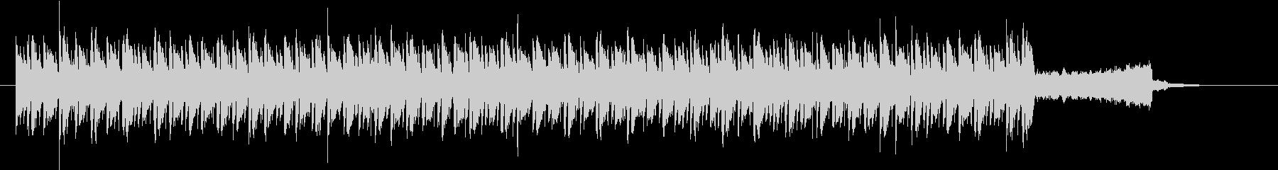 激しいトランスBGMの未再生の波形