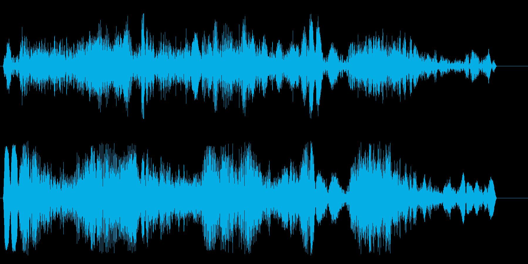 いらっしゃいませという活気のある声の再生済みの波形