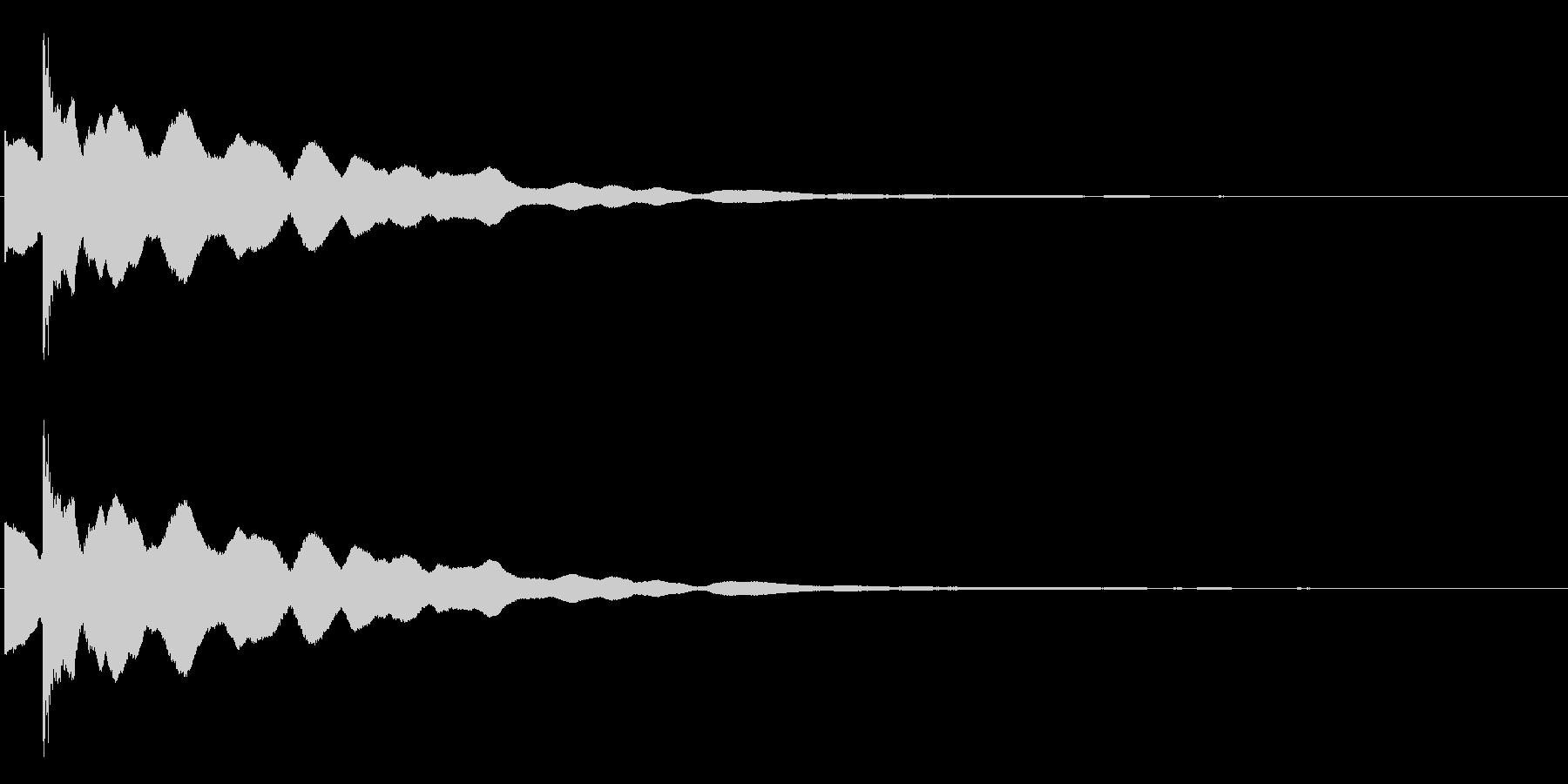 カキーン・コキーン(氷った、獲得した音)の未再生の波形