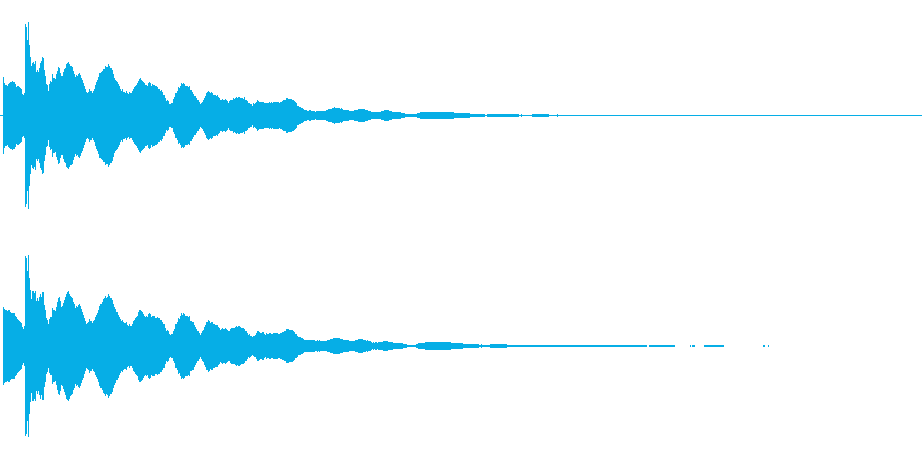 カキーン・コキーン(氷った、獲得した音)の再生済みの波形