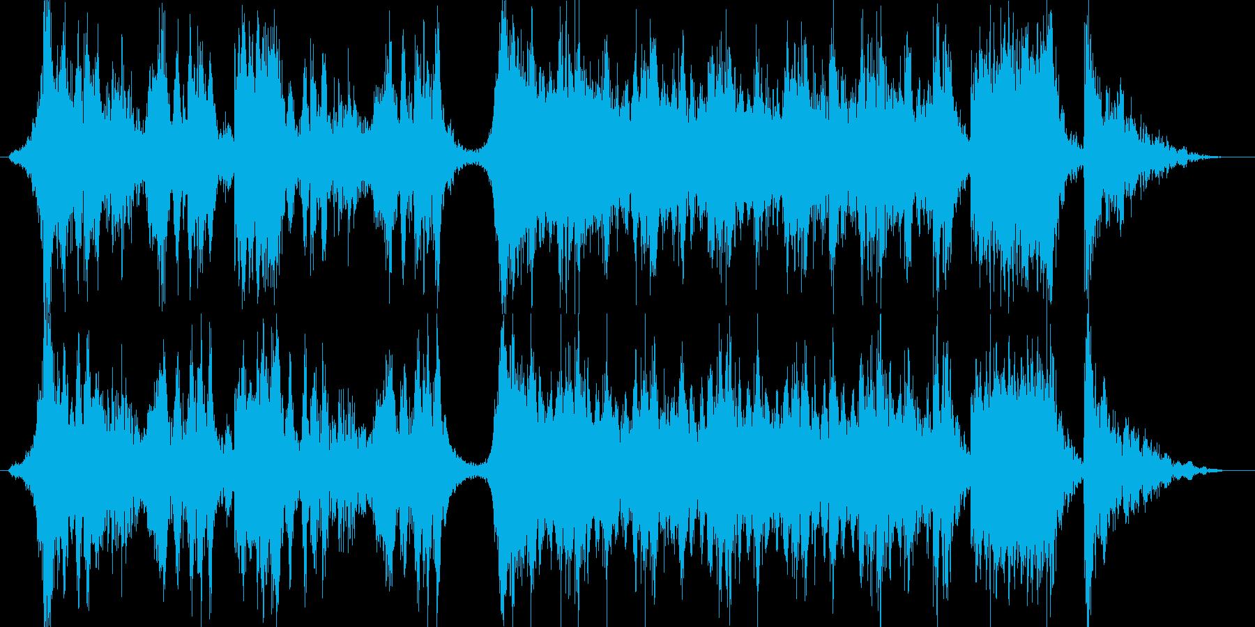 ハリウッド予告編の様な壮大オーケストラの再生済みの波形