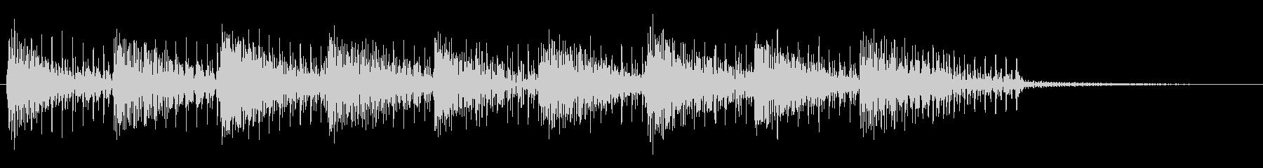 オールドスクールテクノポップ風アナログ音の未再生の波形