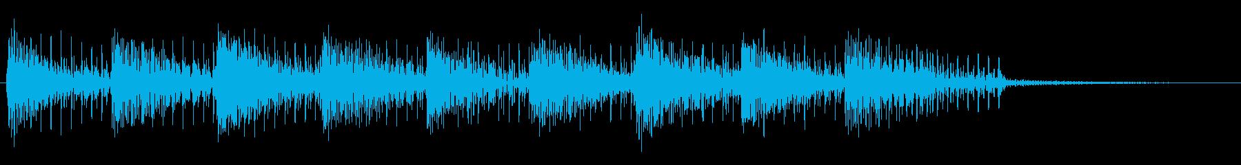 オールドスクールテクノポップ風アナログ音の再生済みの波形