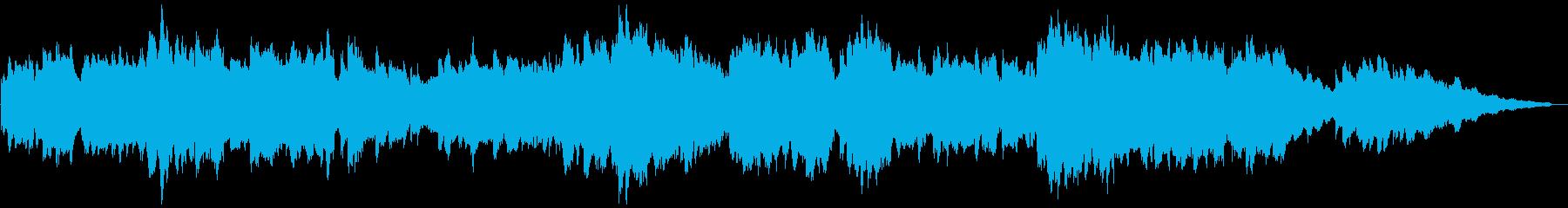 オルゴール風の優しいBGMの再生済みの波形