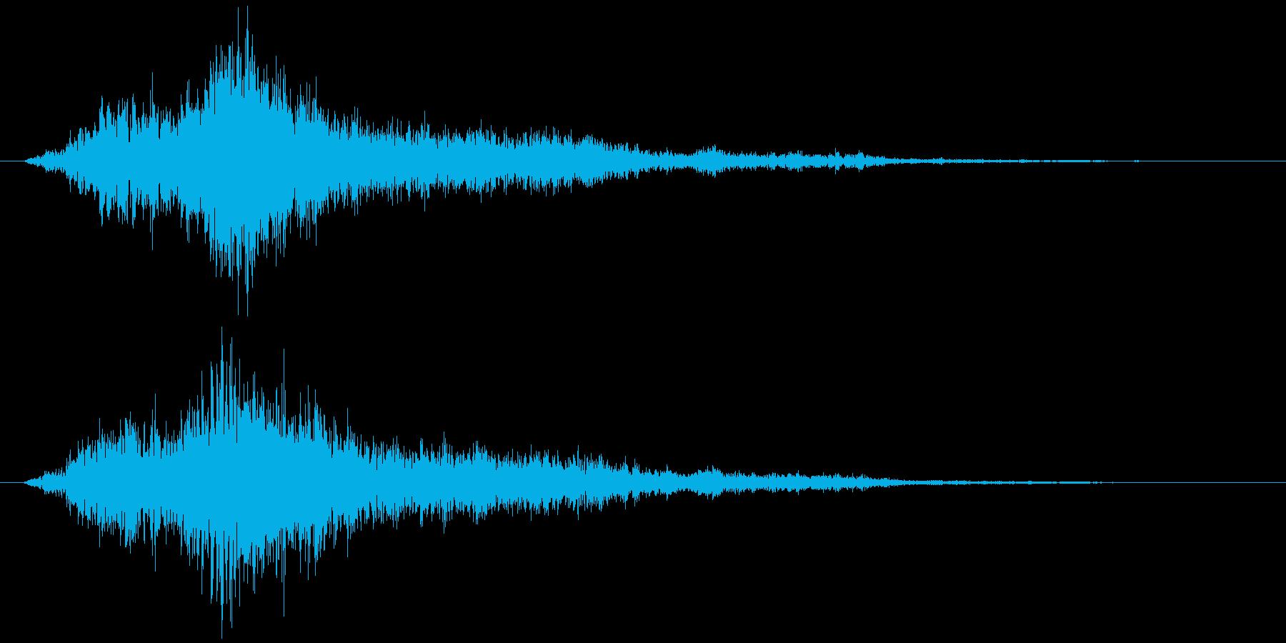 神楽鈴(巫女鈴)シャンの再生済みの波形