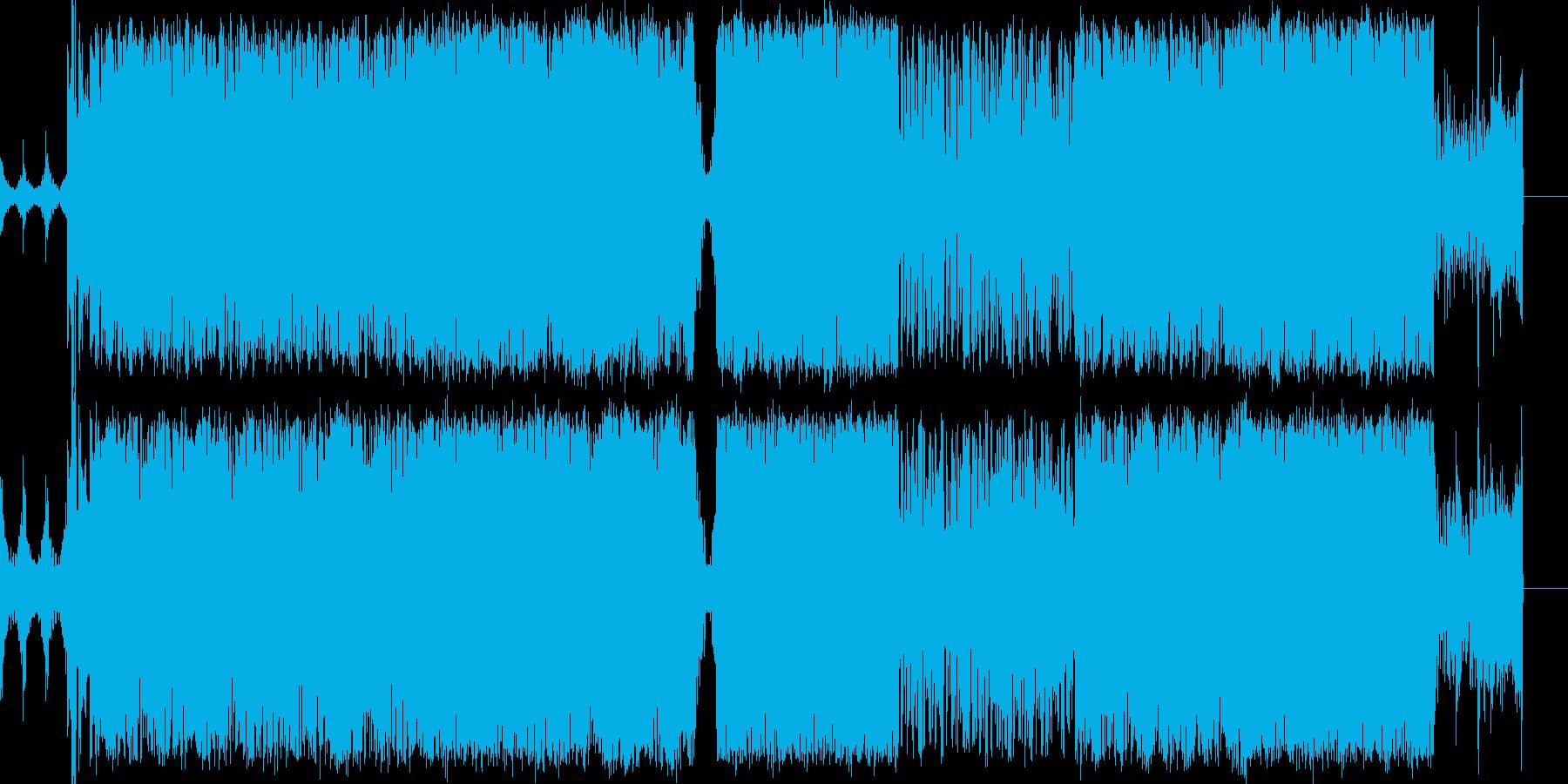SFや近未来をイメージしたテクノサウンドの再生済みの波形