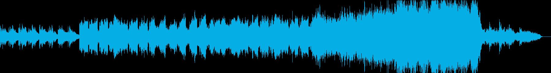 しっとりとした優しい映像用バラードの再生済みの波形