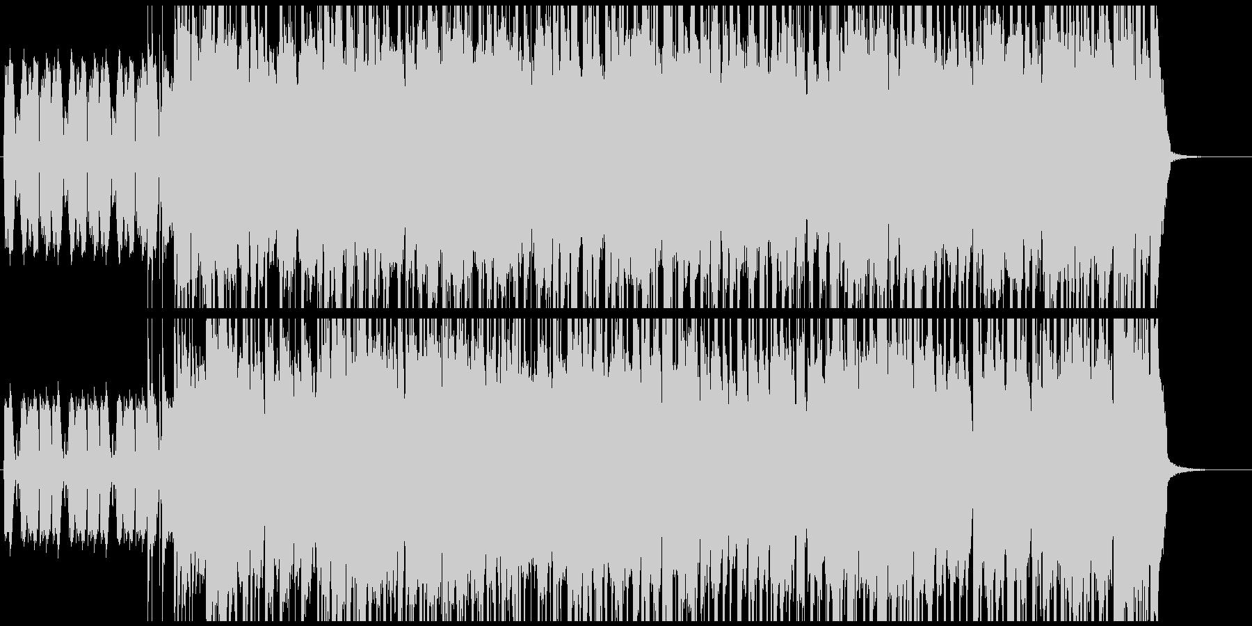 エレキギターとオルガンのロックBGMの未再生の波形