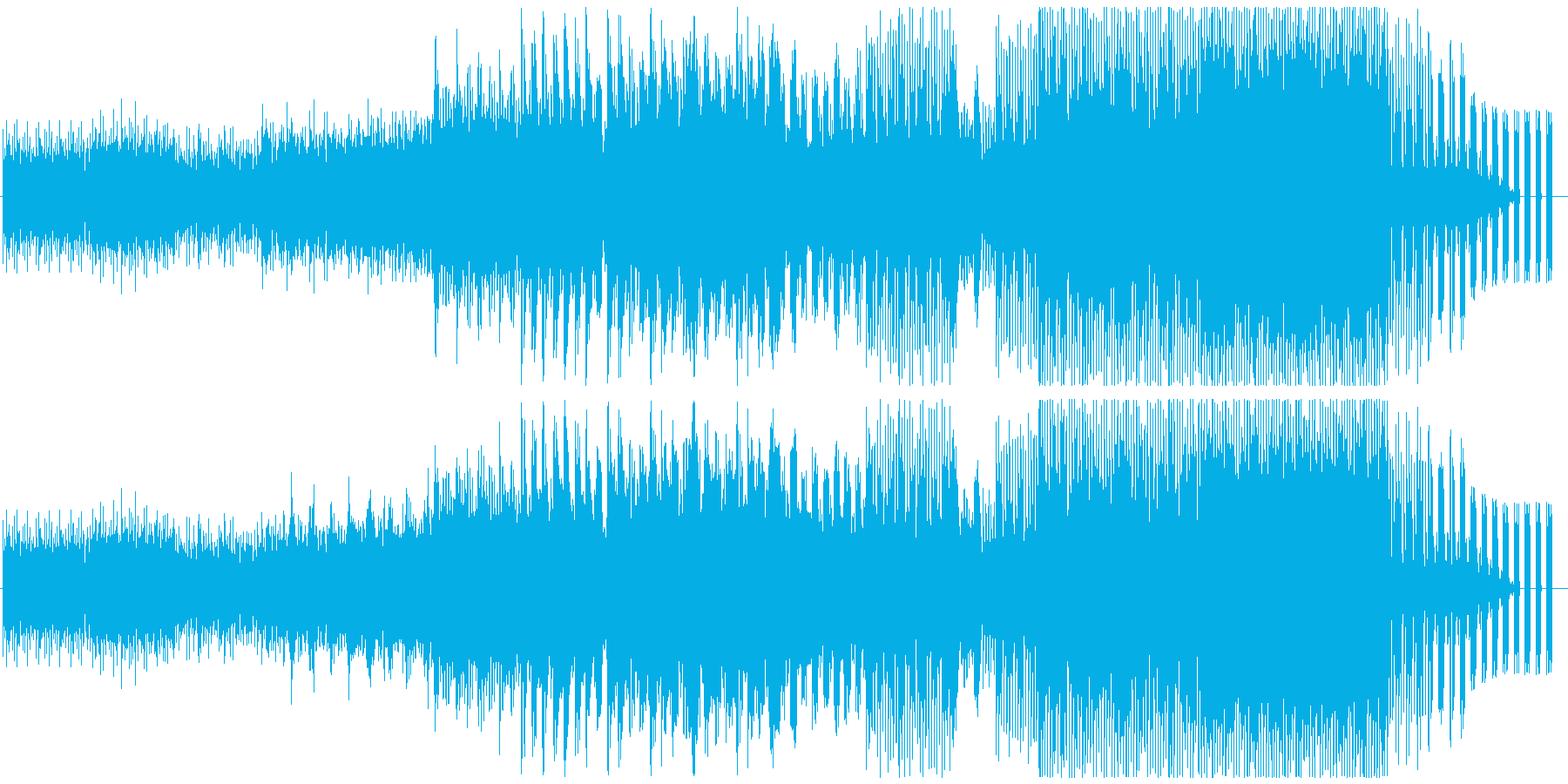 少し古さ感じる宇宙を感じるBGMの再生済みの波形