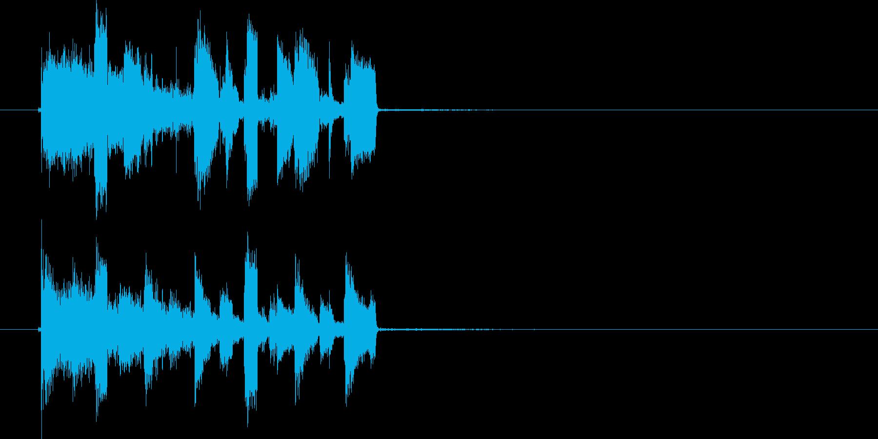 宇宙系テクノ音短め(シリアス、ダンス)の再生済みの波形