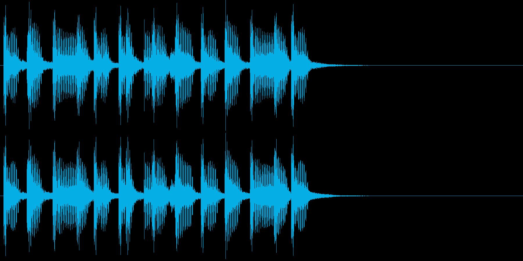 2小節ジングル01 モータウンビート1の再生済みの波形
