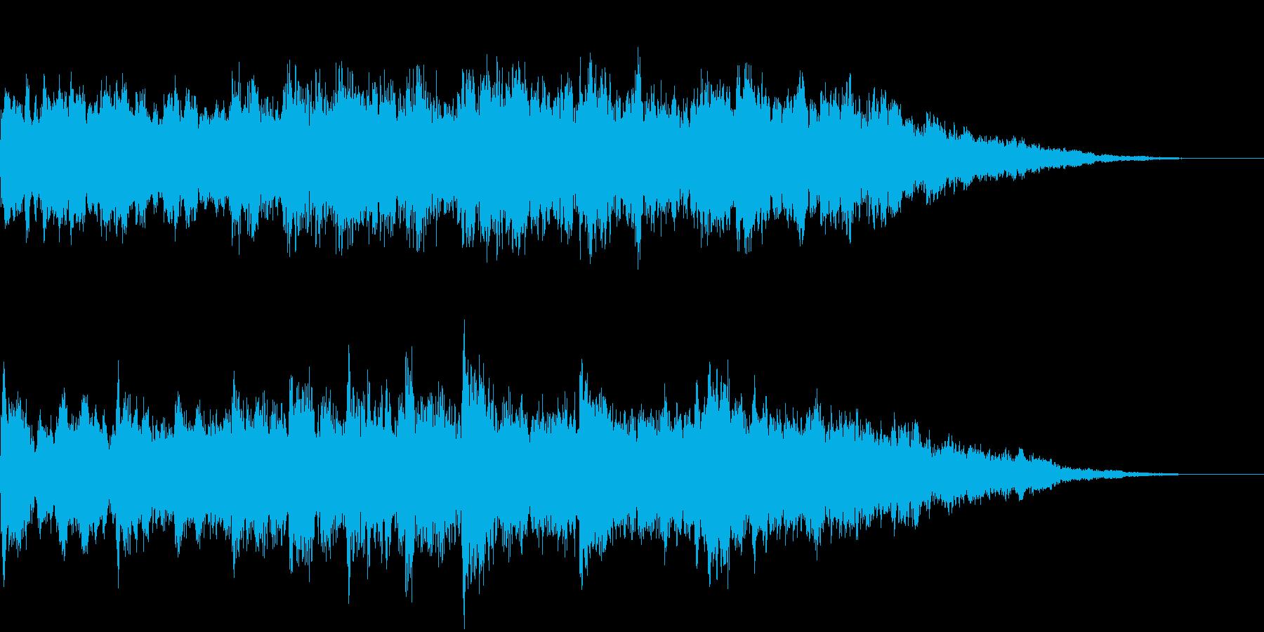 電車の発車メロディ003 発車音の再生済みの波形