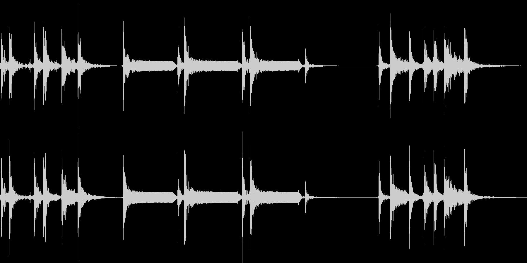 モールス信号でSOSを打つの未再生の波形