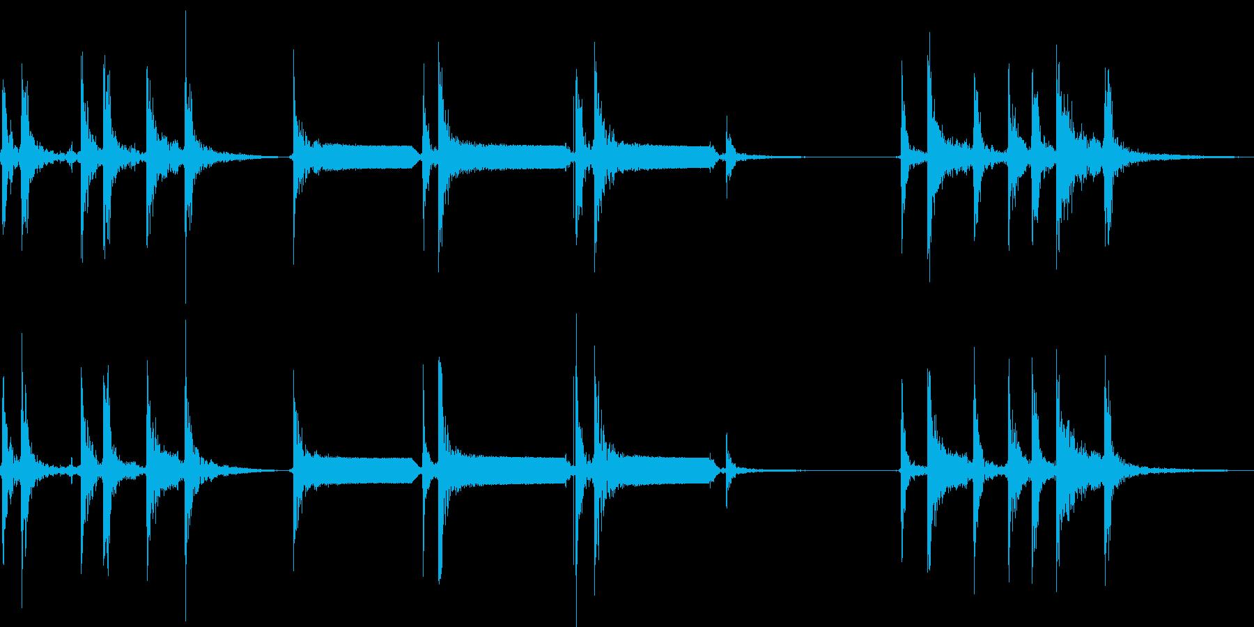 モールス信号でSOSを打つの再生済みの波形
