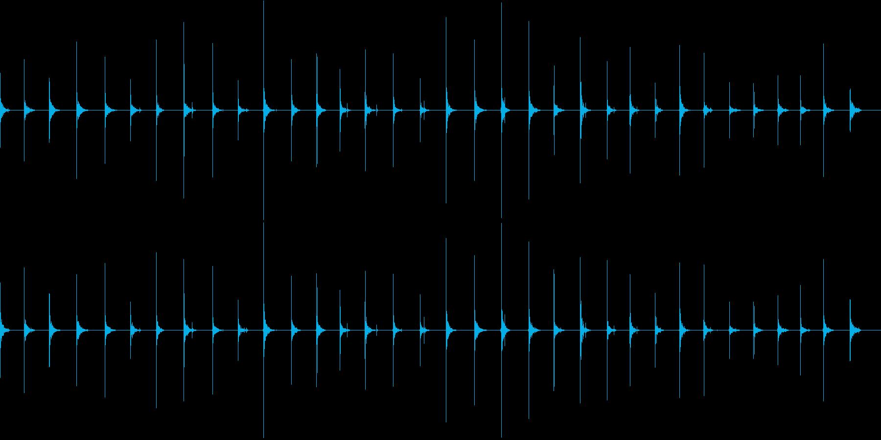 ハイヒールで走るの再生済みの波形