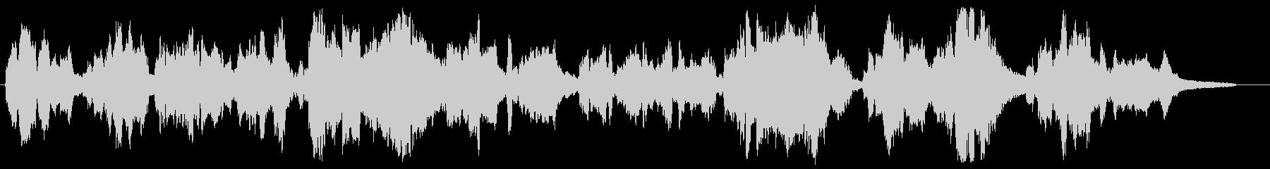 切ない感動シーン向け・バイオリンとピアノの未再生の波形