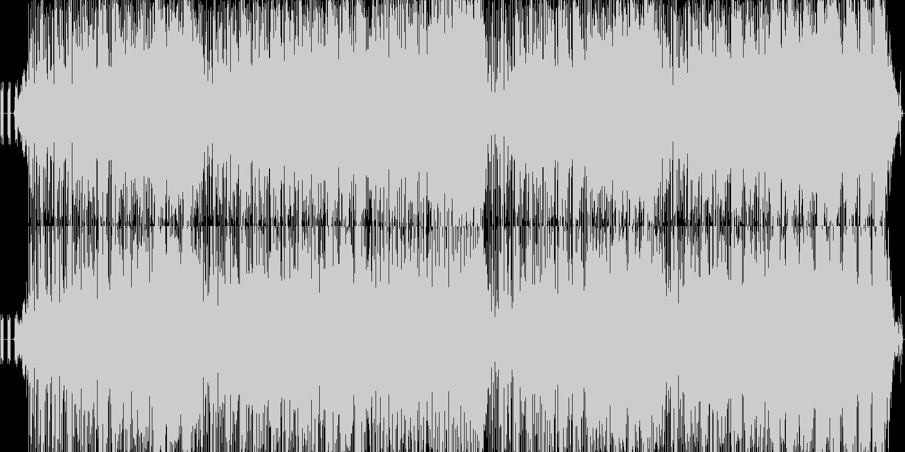 落ち着いたテンポのテクノの未再生の波形