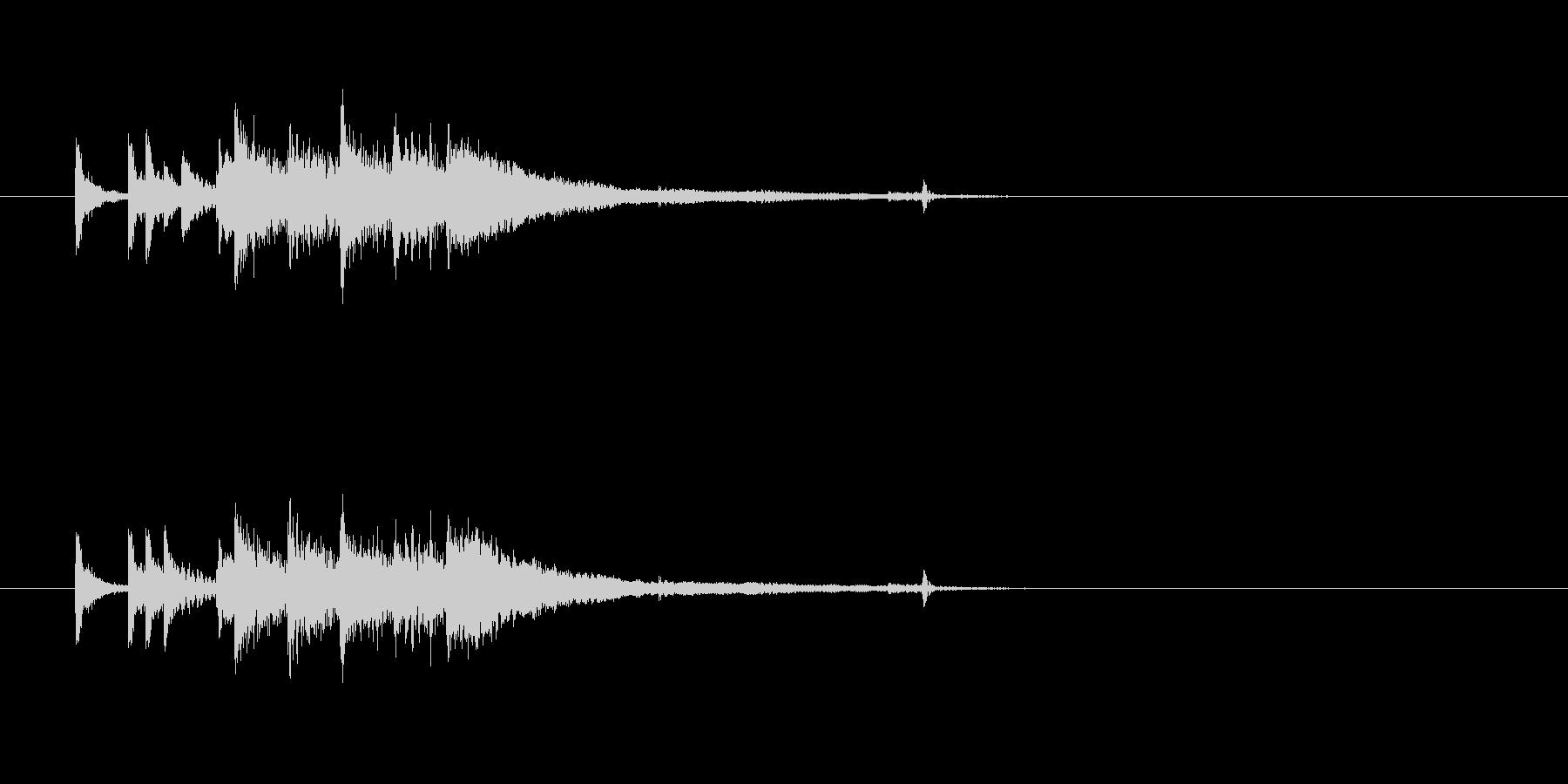 ジングル(場面転換用)の未再生の波形