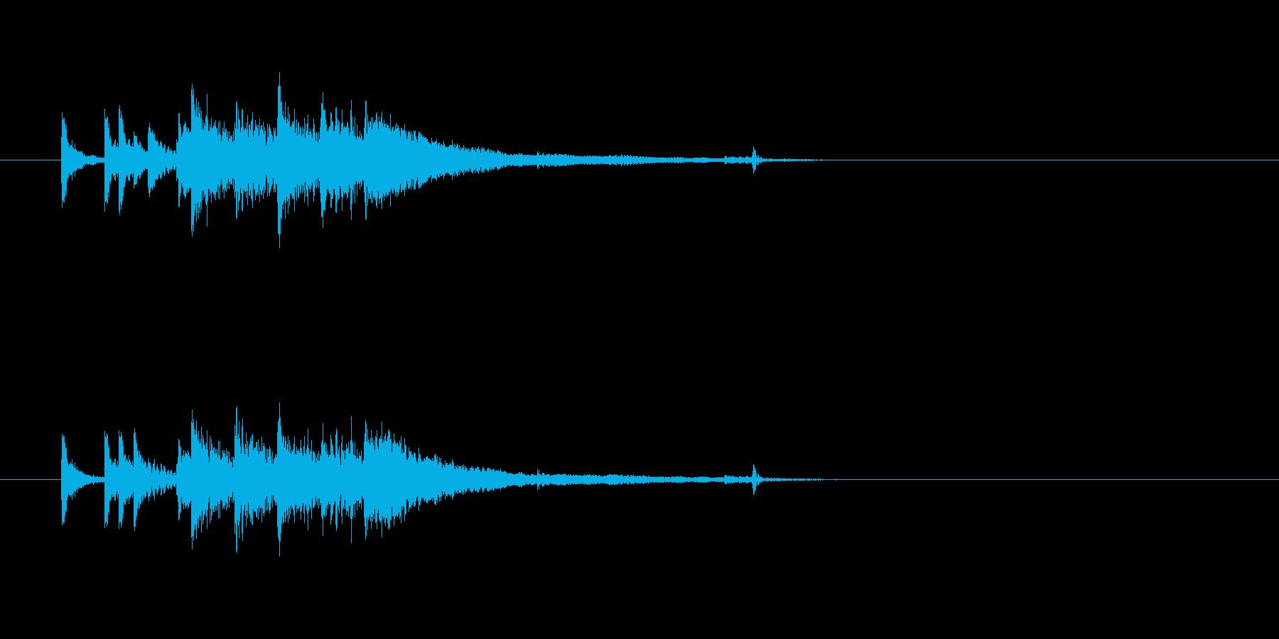ジングル(場面転換用)の再生済みの波形