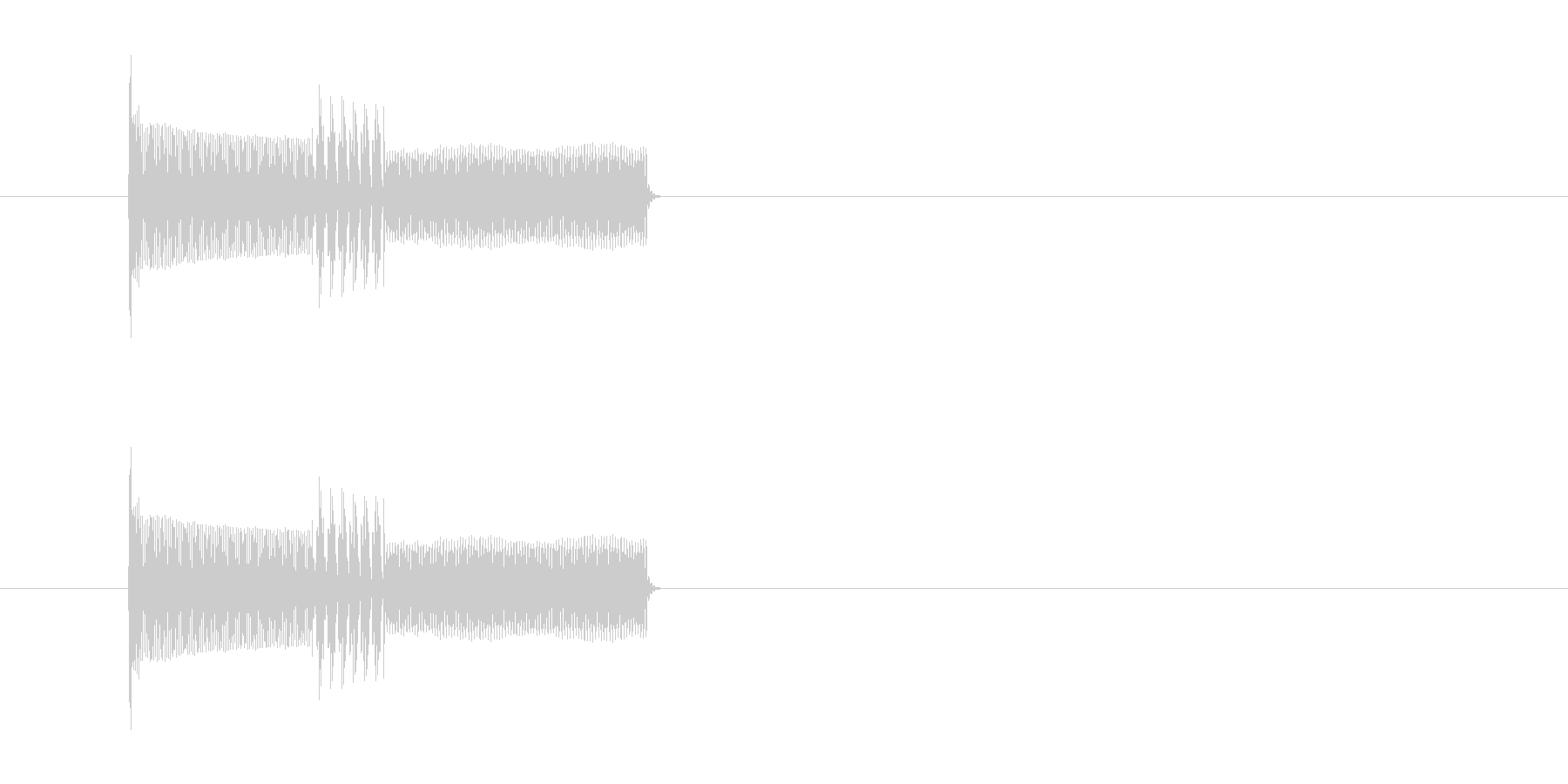 キャンセル音 ピコピコ 電子音の未再生の波形
