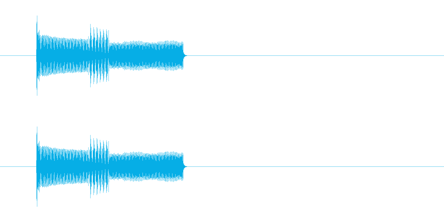 キャンセル音 ピコピコ 電子音の再生済みの波形