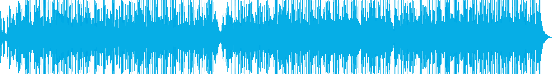 ヒップホップ風のR&Bファンクの再生済みの波形