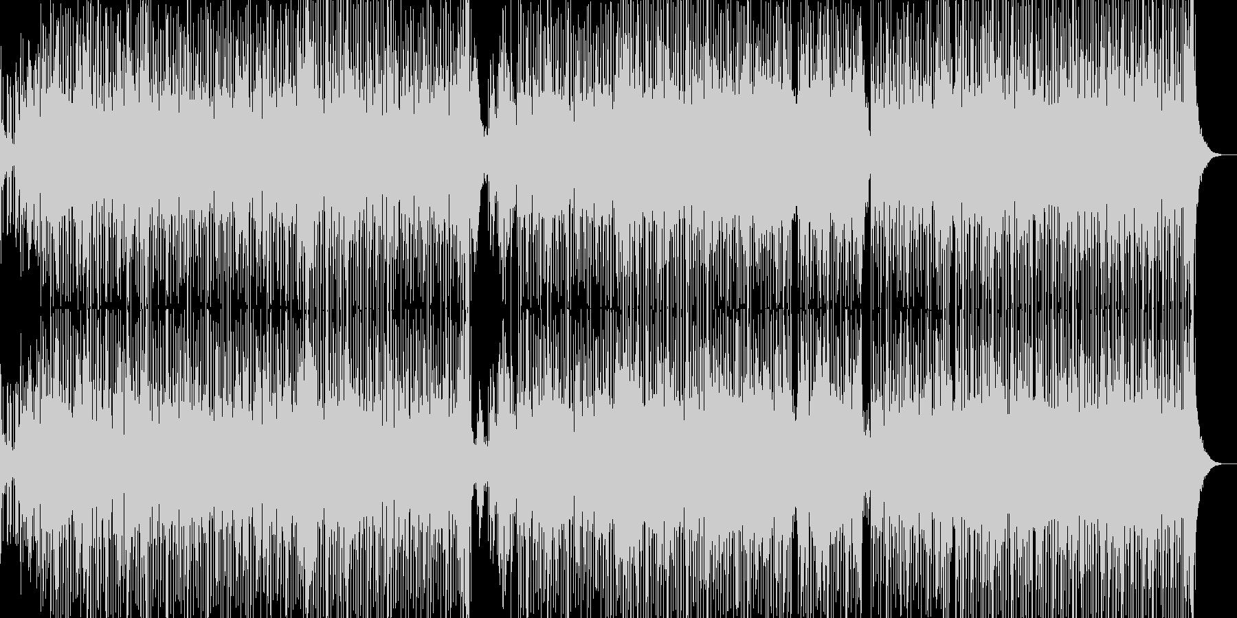 ヒップホップ風のR&Bファンクの未再生の波形