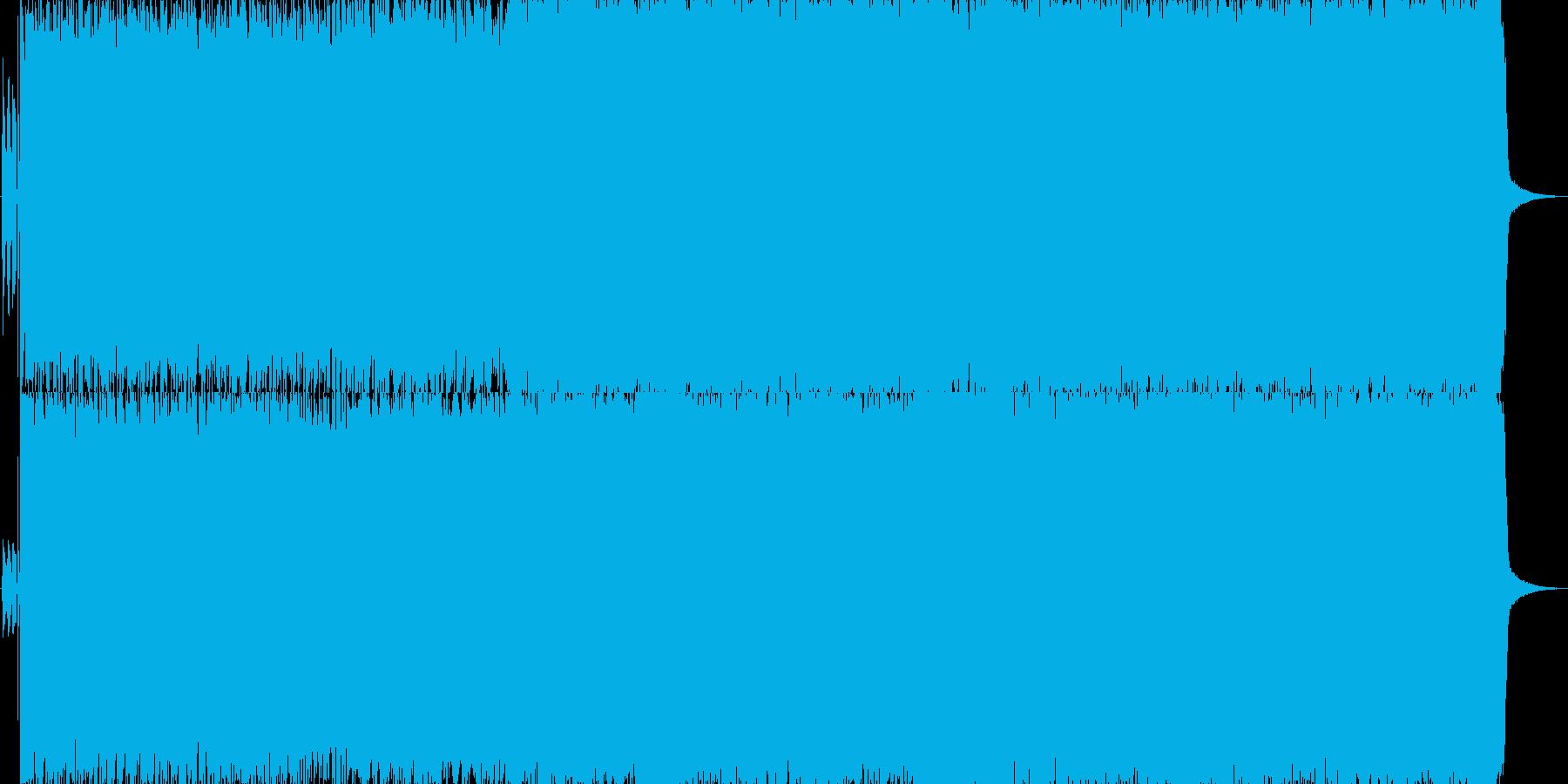 キャッチィーなギターリフのハードロックの再生済みの波形