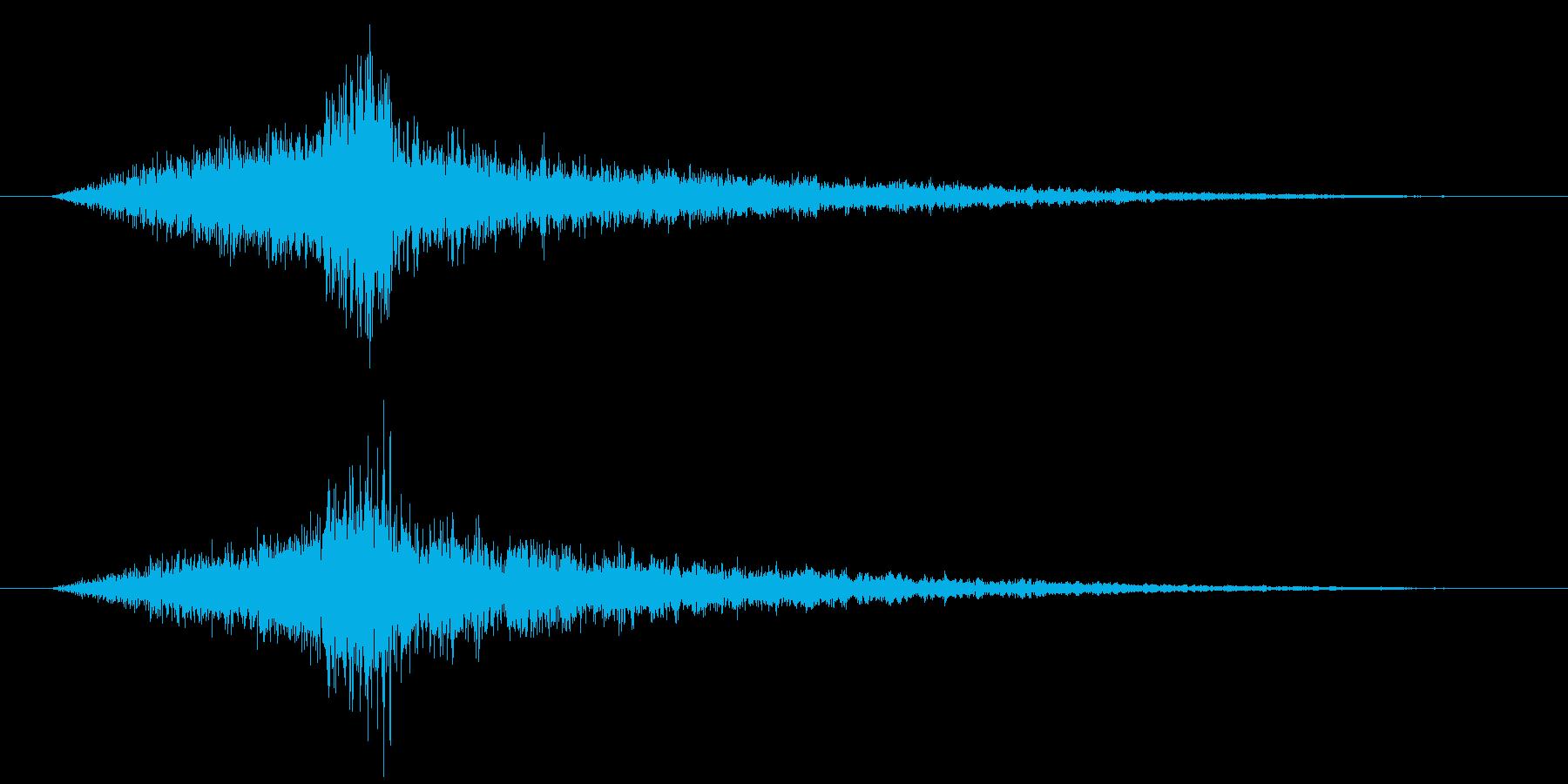 予告動画のラストをカッコ良く飾るの再生済みの波形