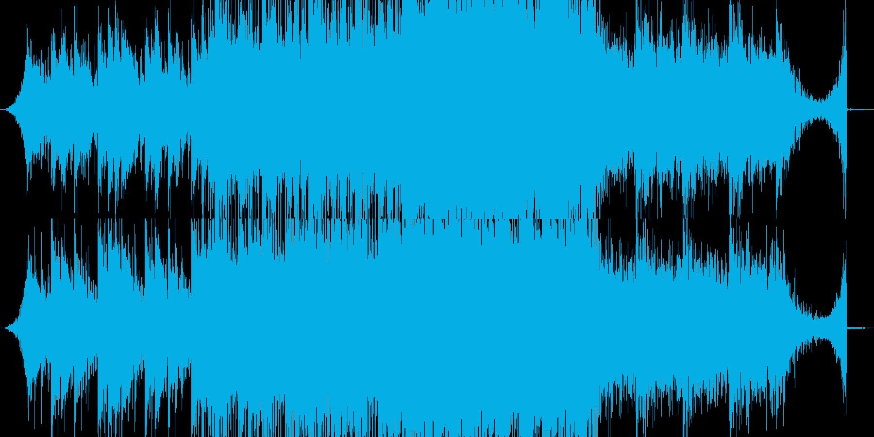 切ない、ホラータイトル画面向けBGMの再生済みの波形