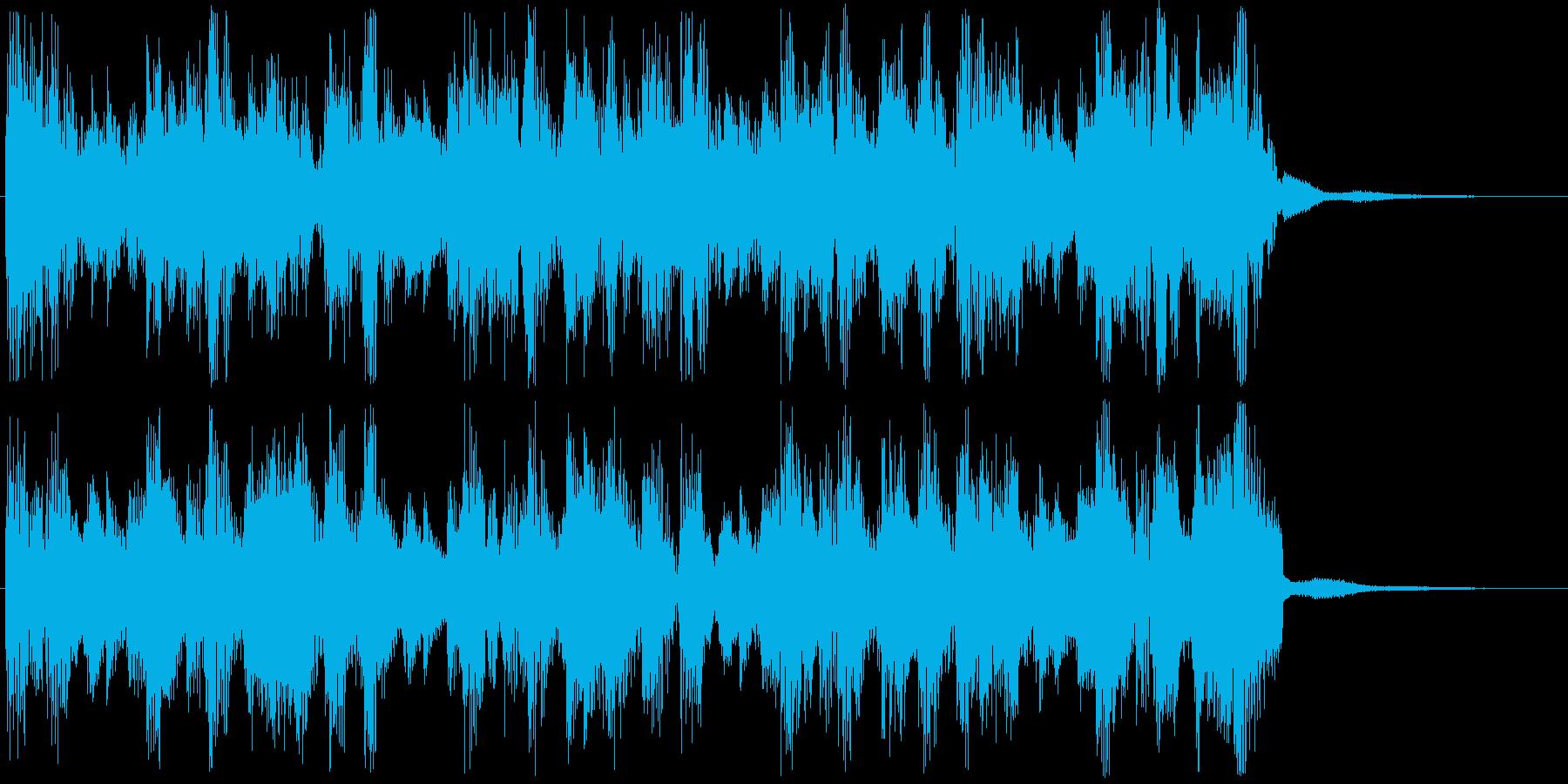 リズミックに上昇するSEジングルの再生済みの波形