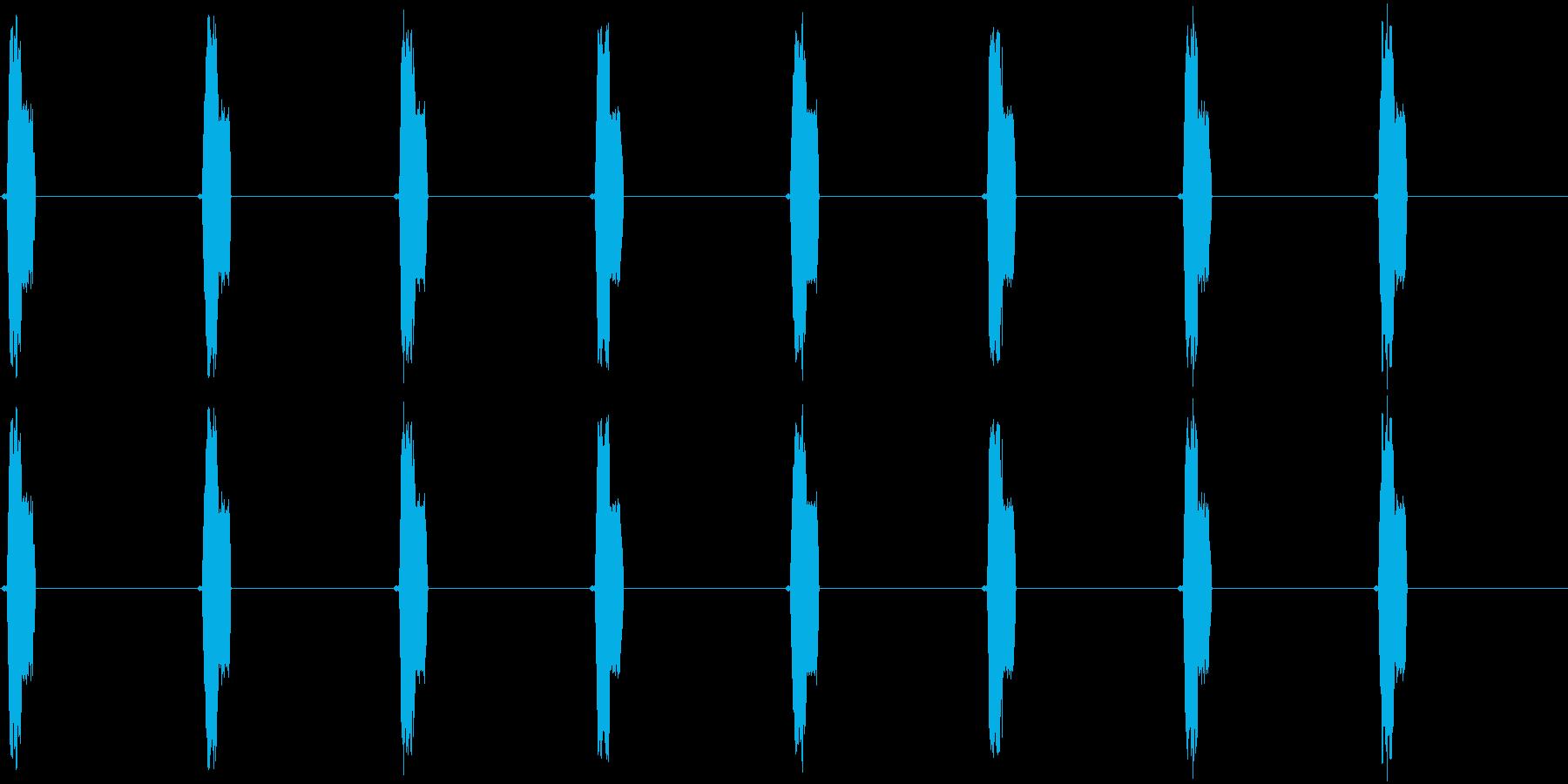 探知機の再生済みの波形