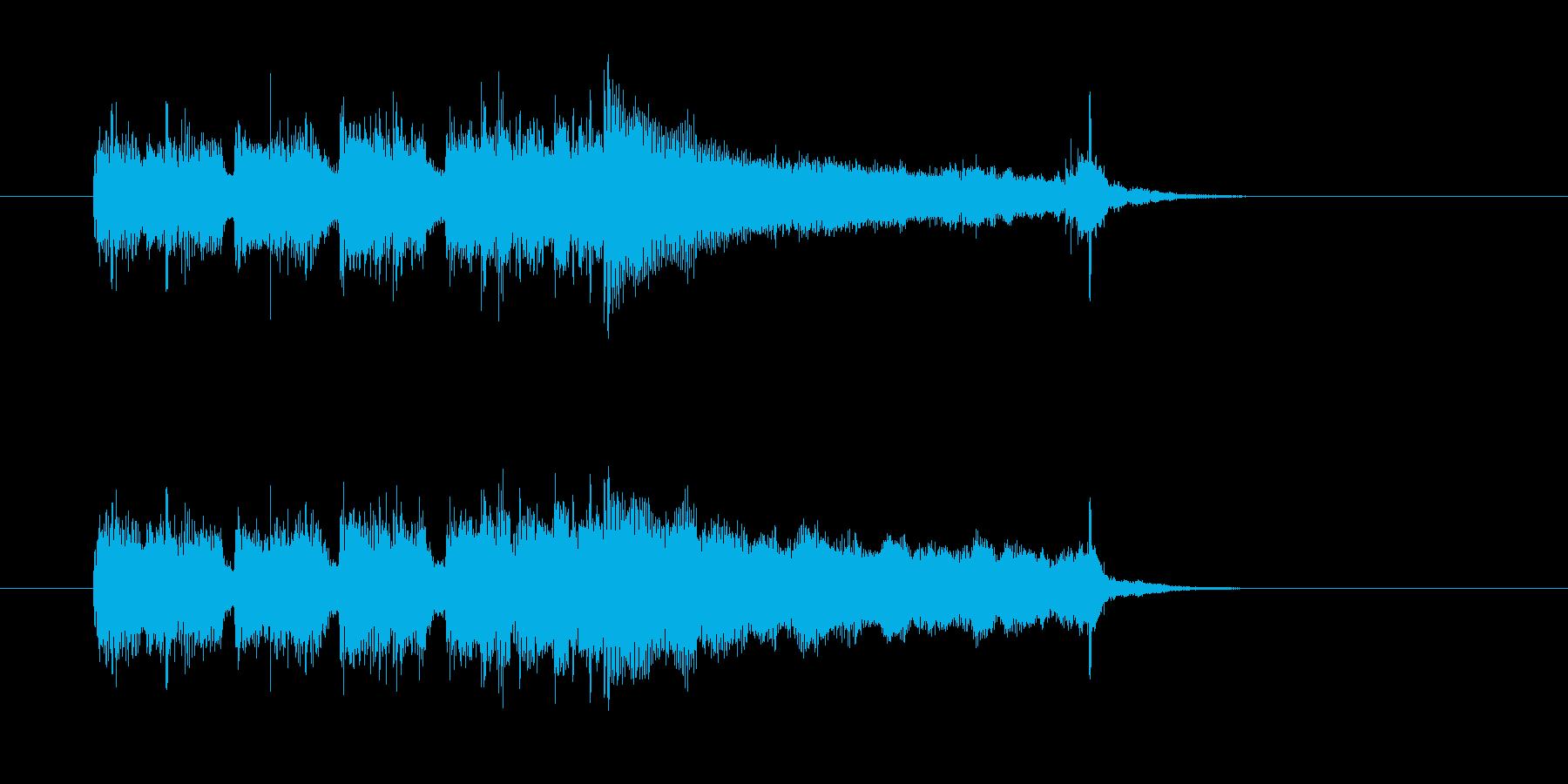 ジングル(ハードな感じ)の再生済みの波形