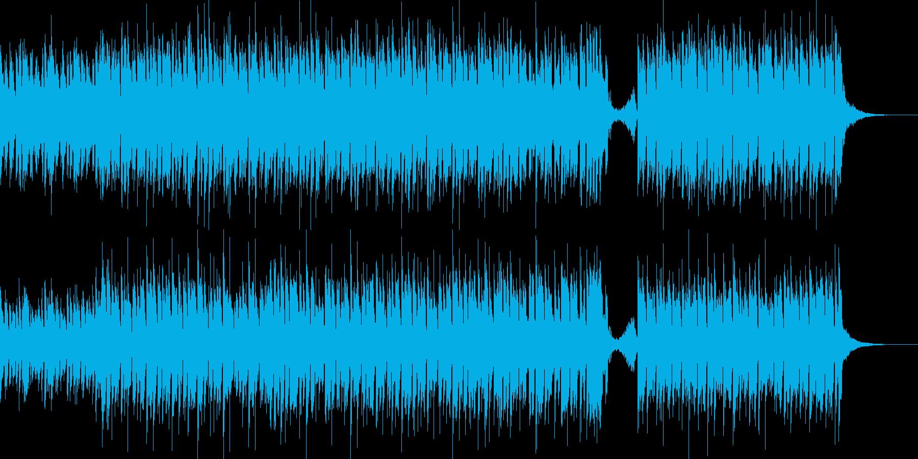 ポップな打ち込みEDMの再生済みの波形