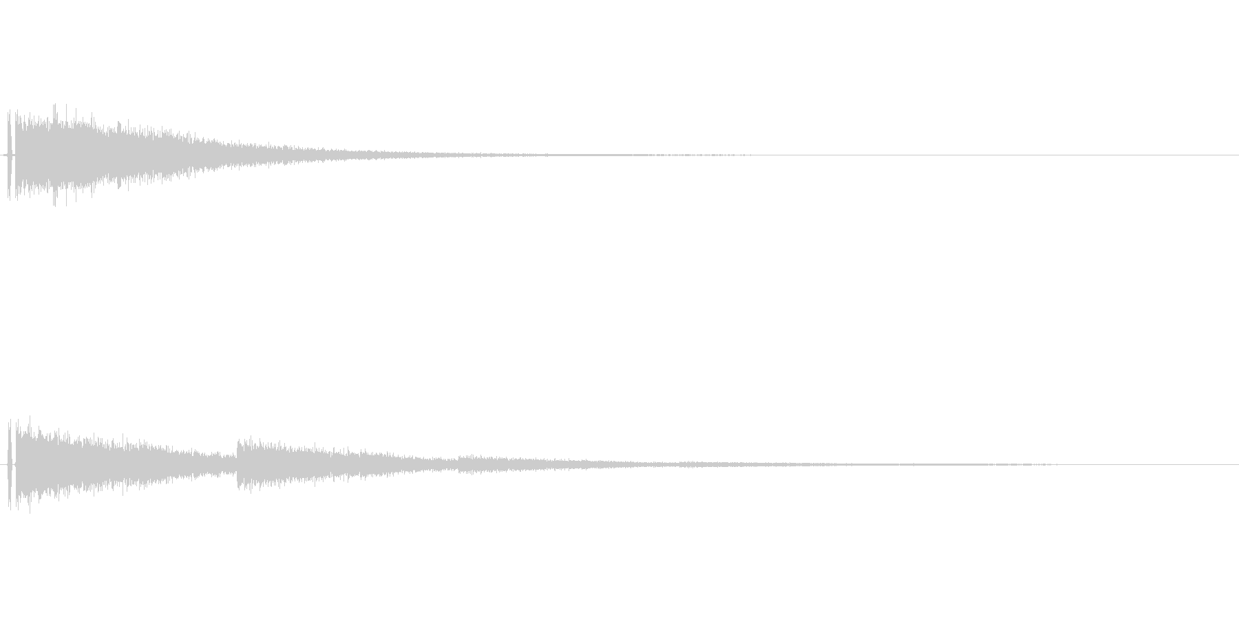 爆発音のような音の未再生の波形