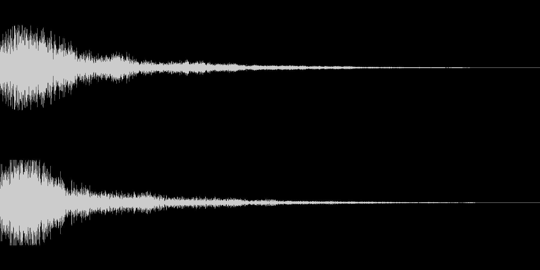 [ピュオン]決定音(可愛く柔かい)の未再生の波形