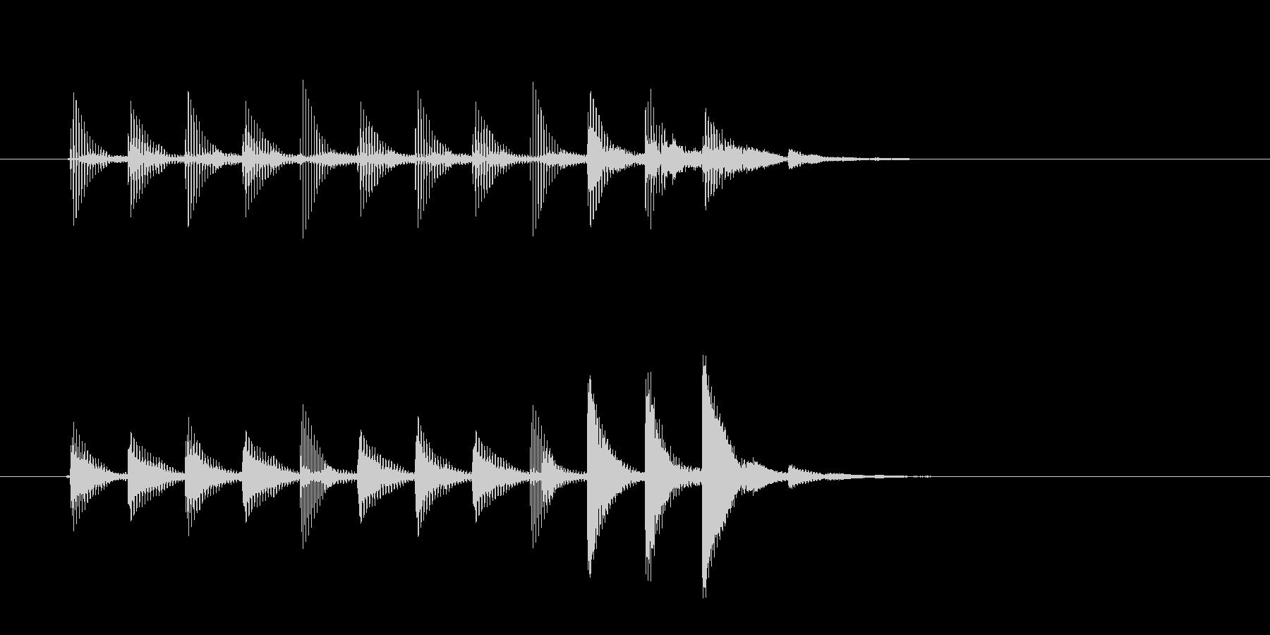 おしゃれで透明感のあるシンセサウンドの未再生の波形