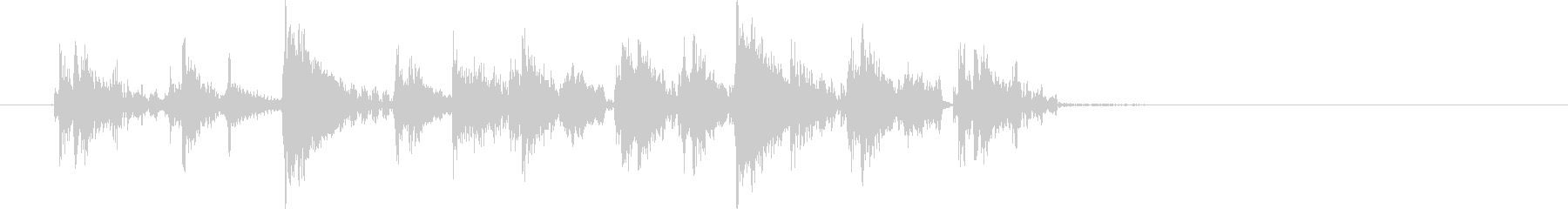 ズンチャピピピピドン(高音の機械音)の未再生の波形