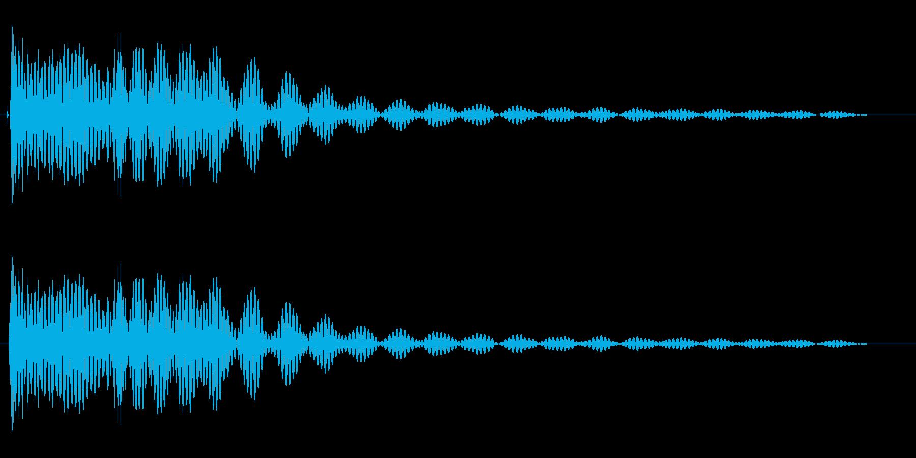 勢いやキレがある効果音の再生済みの波形