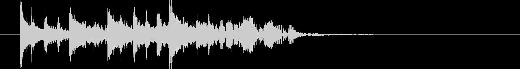 【ジングル】ほのぼのした木琴の曲の未再生の波形