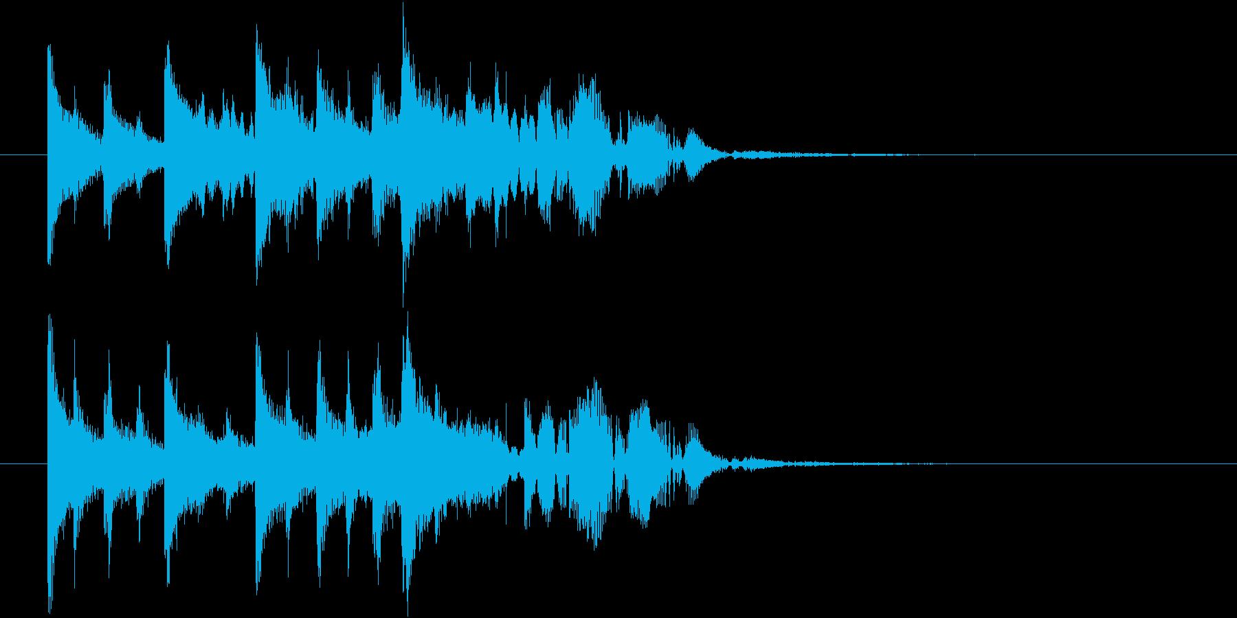 【ジングル】ほのぼのした木琴の曲の再生済みの波形