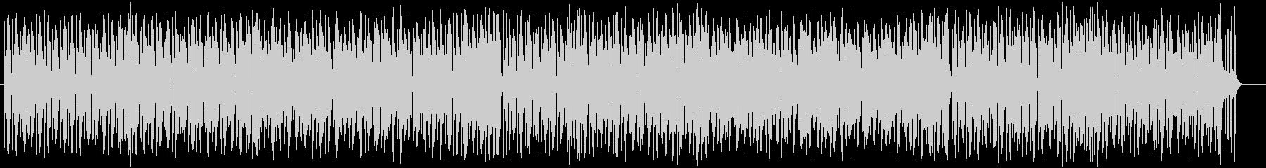 明るくうきうきするシンセサイザーの曲の未再生の波形