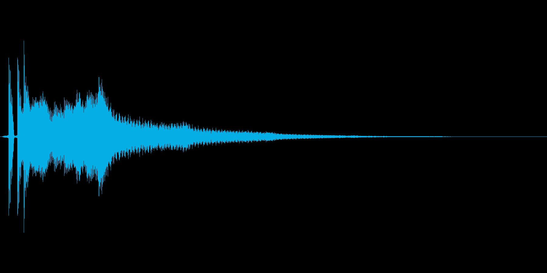 「ポンッキラーン」の再生済みの波形
