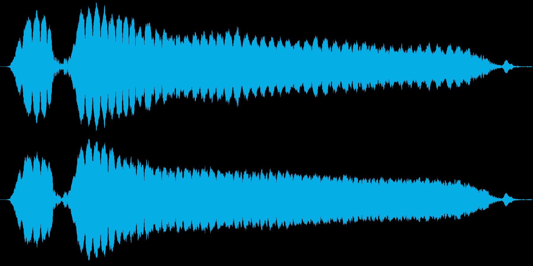 警官のホイッスルを2回吹くの再生済みの波形
