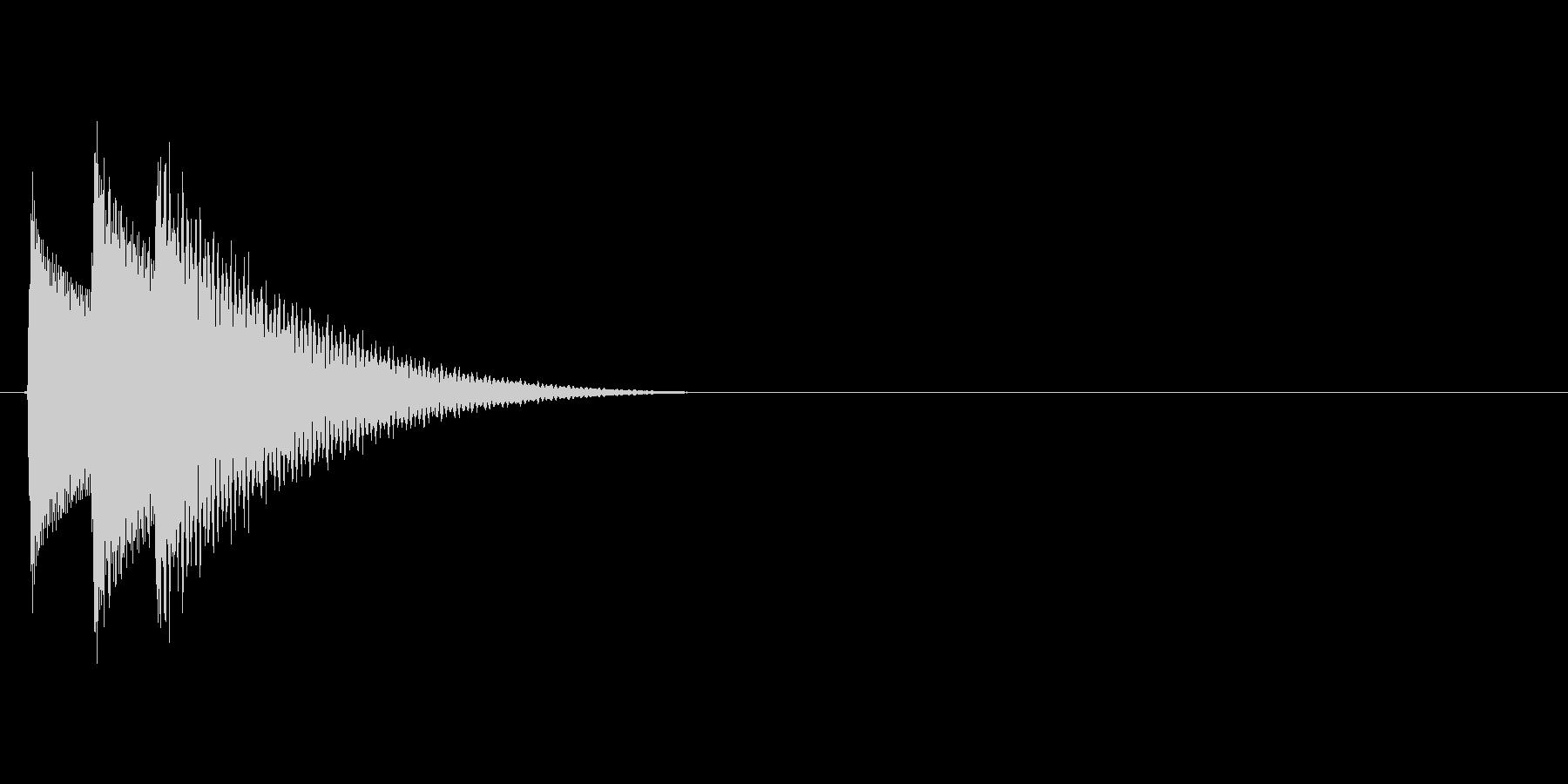 シンプルで汎用的な決定音その3の未再生の波形