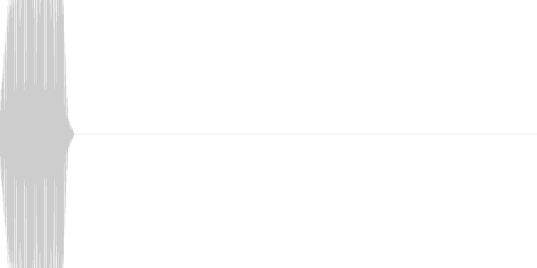 ボタン・カーソル・操作音 「ピッ」の未再生の波形