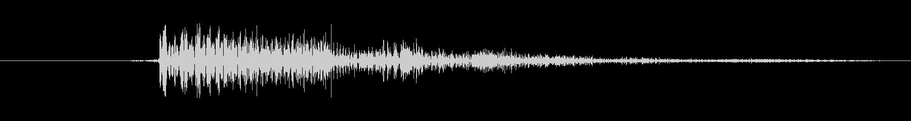カーソル移動(ヒュイッ)の未再生の波形