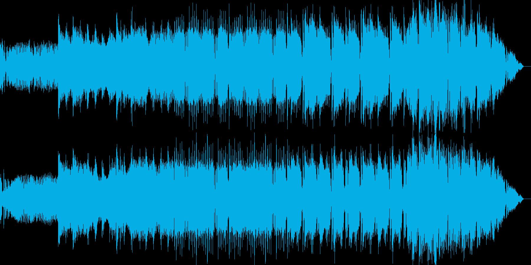 サスペンシブなディープテクノの再生済みの波形